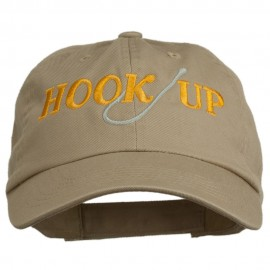 Hook Up Fishing Embroidered Low Profile Cap - Khaki