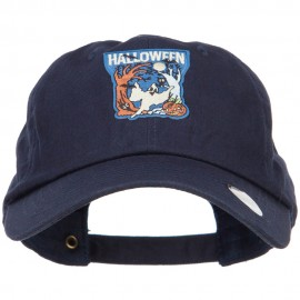 Halloween with Ghost Patched Unstructured Cap