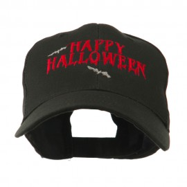 Happy Halloween with Bats Embroidered Cap