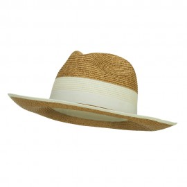 Wide Brim Paper Braid Panama Hat