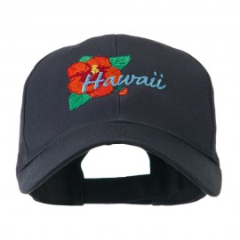 USA State Flower Hawaii hibiscus Embroidery Cap
