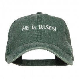 He is Risen Embroidered Washed Cap