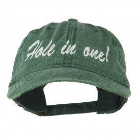Hole in One Embroidered Washed Cap