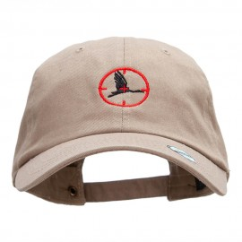 Crane Hunter Embroidered Washed Cap