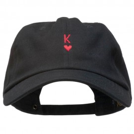 K Heart Symbol Embroidered Washed Cap