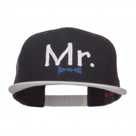 Mr Embroidered Mesh Snapback Cap