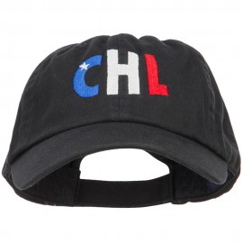 Chile CHL Flag Embroidered Low Profile Cap
