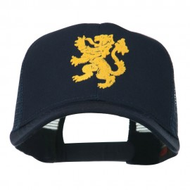 Heraldic Lion Embroidered Cap - Navy