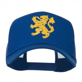 Heraldic Lion Embroidered Cap - Royal