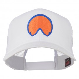 Horse Hoof Mascot Embroidered Mesh Back Cap