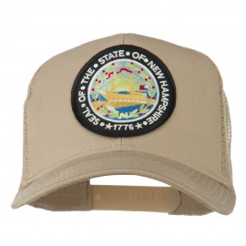 New Hampshire State Patched Mesh Cap - Khaki