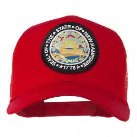 New Hampshire State Patched Mesh Cap