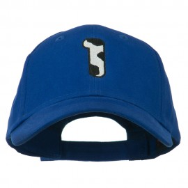 Holstein Number Embroidered Youth Brushed Cap