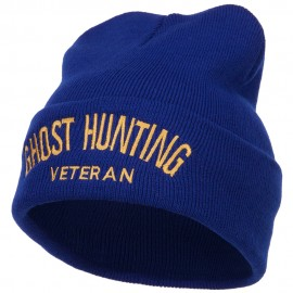 Ghost Hunting Veteran Embroidered Long Beanie