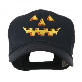 Halloween Pumpkin Face Embroidered Cap