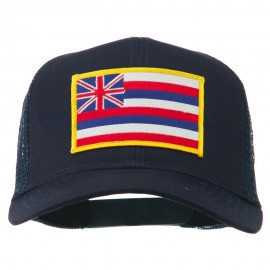 Hawaii State Patched Cotton Twill Mesh Cap