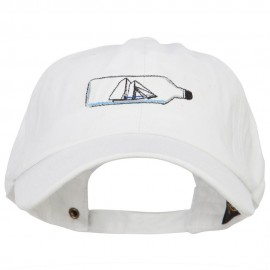 Ship in a Bottle Embroidered Washed Cotton Twill Cap