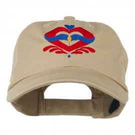 Heart Emblem Embroidered Cap