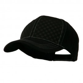 Hipster Two Tone Ball Cap - Black Black