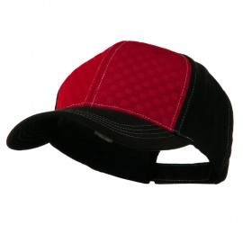 Hipster Two Tone Ball Cap - Red Black
