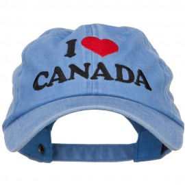 I Heart Canada Embroidered Dyed Unstructured Cap