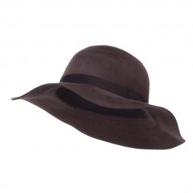 Women's Brushed Wool Floppy Wide Brim Hat