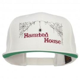 Haunted House Embroidered Snapback Cap