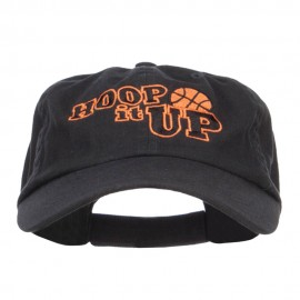 Hoop It Up Basketball Embroidered Low Cap
