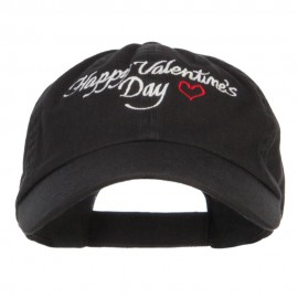 Happy Valentine's Day Embroidered Low Cap