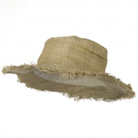 Hemp Hat with Frayed Brim