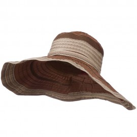 Women's Hat with Wave Design Ribbon