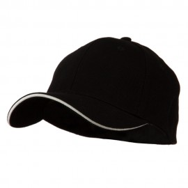 Heavy Weight Fitted Cap - Black White