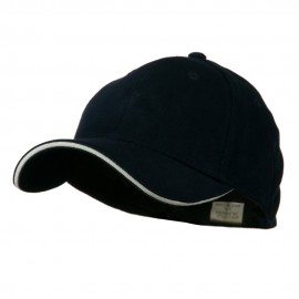 Heavy Weight Fitted Cap - Navy White