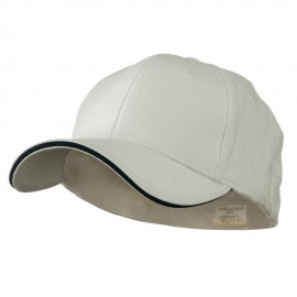 Heavy Weight Fitted Cap - White Navy