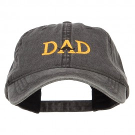 Mustache Dad Embroidered Washed Cap