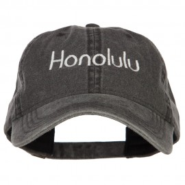 Honolulu Embroidered Washed Buckled Cap