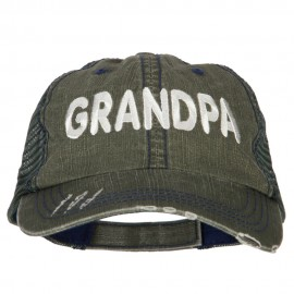 Grandpa Embroidered Low Profile Mesh Cap
