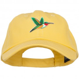 Hummingbird Patched Low Profile Cotton Cap
