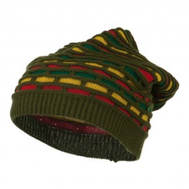 New Rasta Honey Deep Beanie