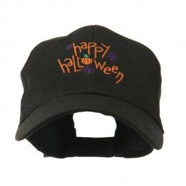 Happy Halloween with Pumpkin Embroidered Cap