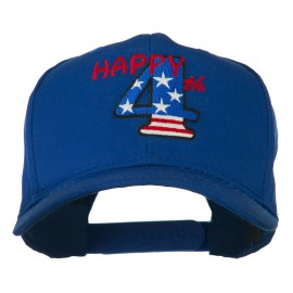 Happy 4th Embroidered Cap