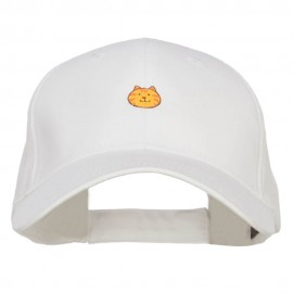Mini Cat Face Embroidered Cotton Cap