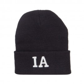 IA Iowa State Embroidered Long Beanie