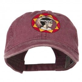 Indian Boy Embroidered Washed Cap