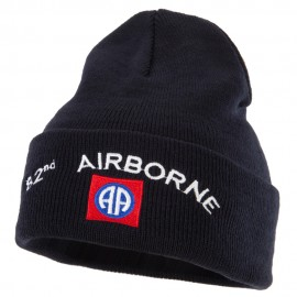 82nd Airborne Logo Embroidered Long Beanie