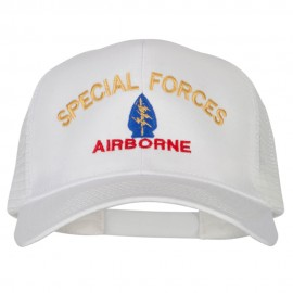 Airborne Special Force Embroidered Solid Cotton Mesh Pro Cap