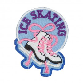 Ice Skating Embroidered Patches