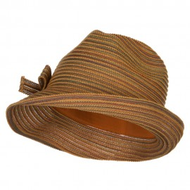 UPF 40+ Poly Braid Slanted Fedora