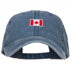 Mini Canada Flag Embroidered Washed Cap
