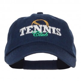 Tennis Club Embroidered Pet Spun Cap